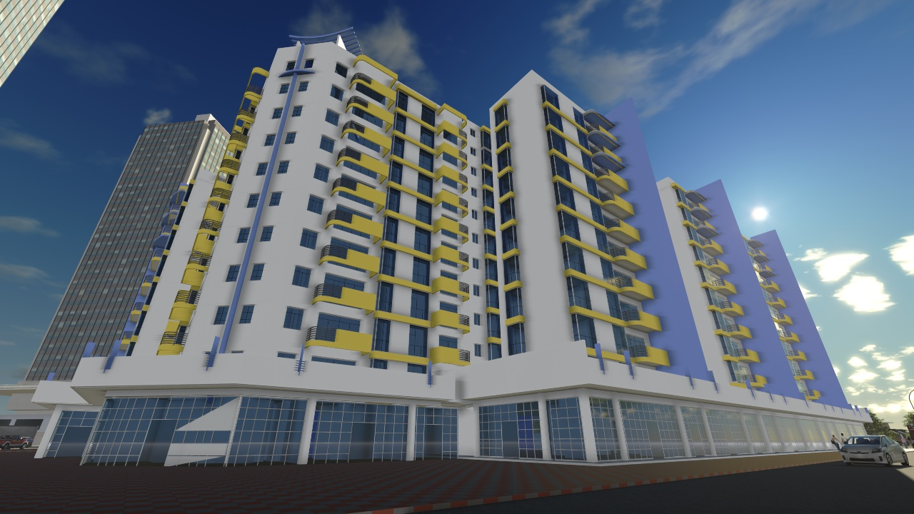 Rendering & animation for a residential appartment building compound project in Jordan.