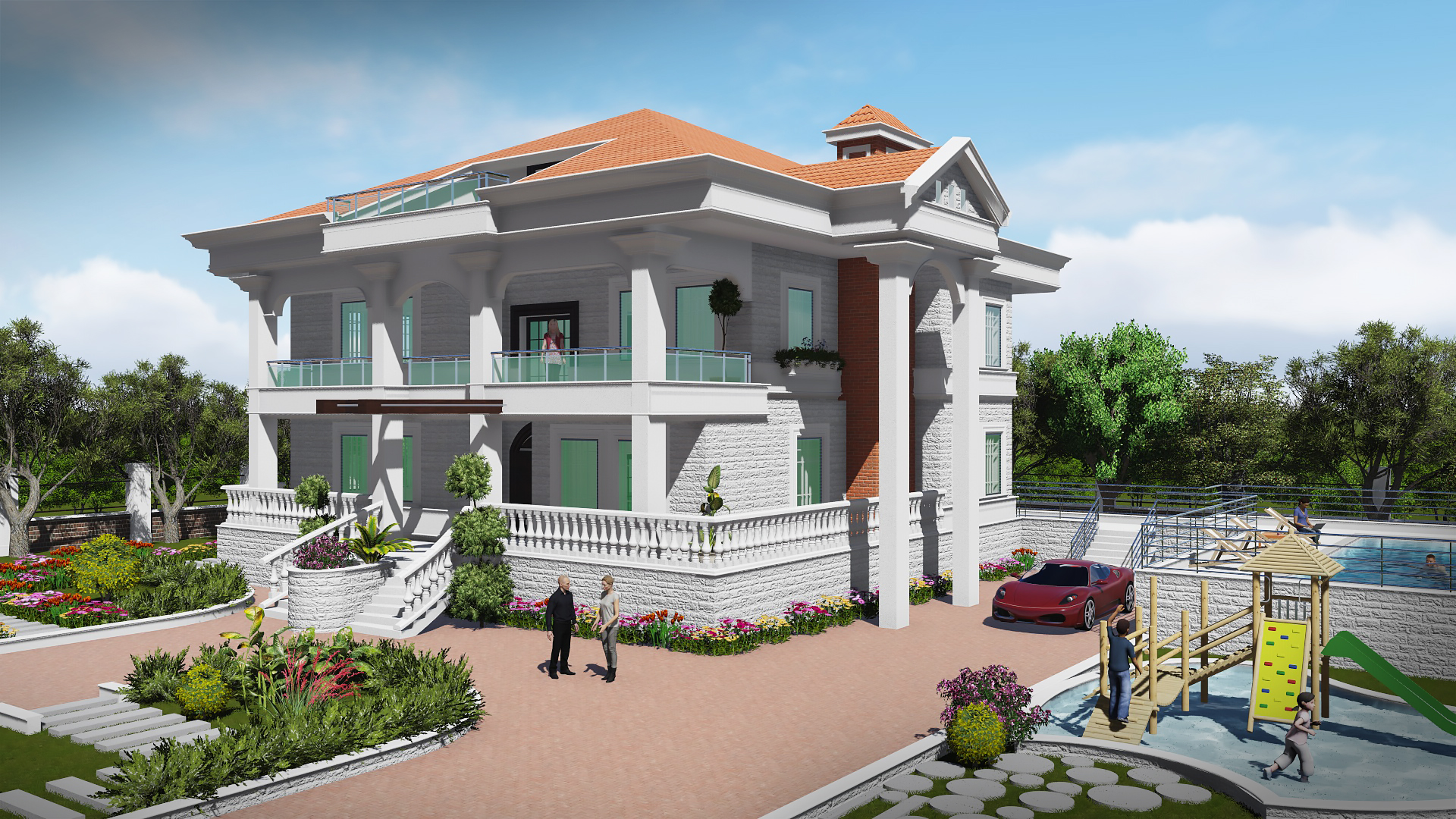 Architecture Design for Bassam Villa in beqaa, Lebanon.