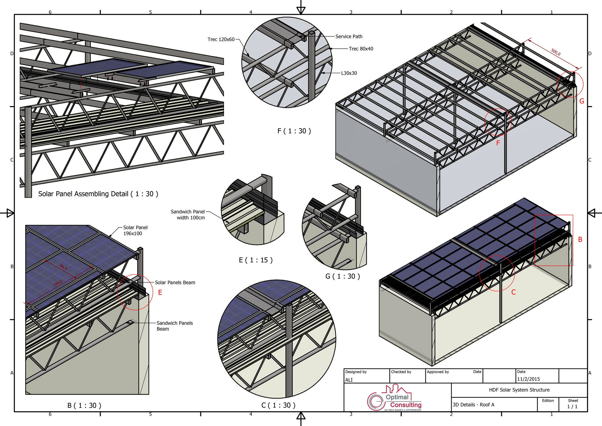 Steel Structure design for Hotel Due Solar System in Beirut, Lebanon.