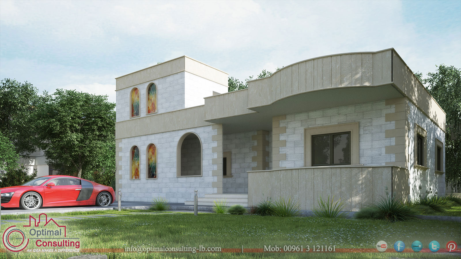 Mahfouz House Design & Rendering