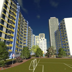 Al-Nour Apartment Building Compound Animation