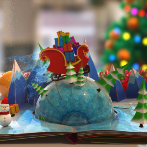 Christmas & New Year Pop-Up Book Animation - Vista Moda 2015