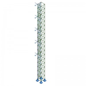 External Elevator Steel Structure Animation